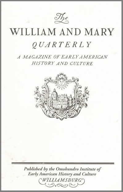 The William and Mary Quarterly