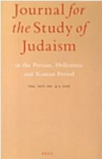 Journal for the Study of Judaism in the Persian, Hellenistic, and Roman Period